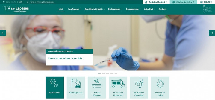 Son Espases estrena nou web per acostar l'Hospital als usuaris